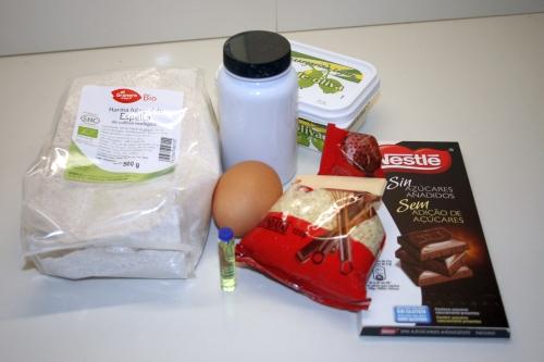 01. Ingredientes para galletas choco bombón en blog de recetas fitness