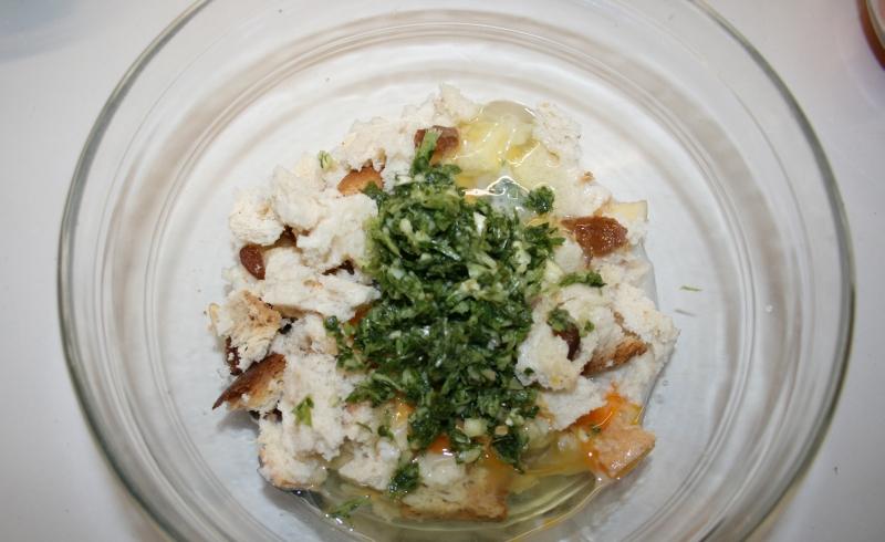 02. El relleno para el pollo relleno al horno en blog de recetas fitness y blog de fitness para mujeres