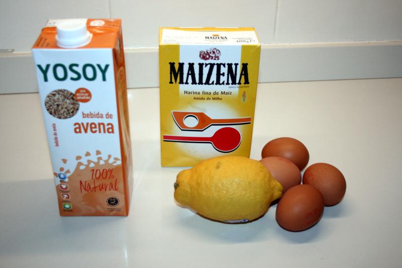 02. Ingredientes para Crema enTarta fitness de frutas en blog de fitness