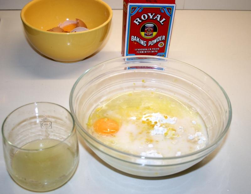 03. Preparación de los bizcochos de limón y chocolate