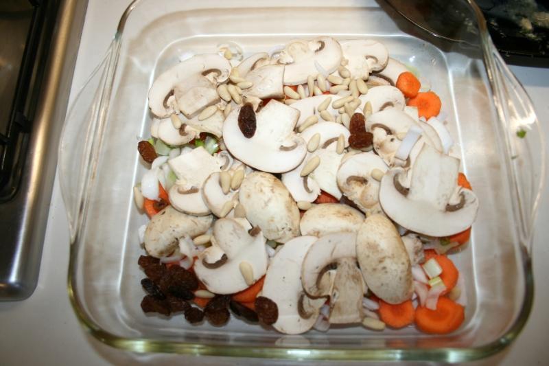 04. LAs verduras para el pollo relleno al horno en blog de recetas fitness y blog de fitness para mujeres