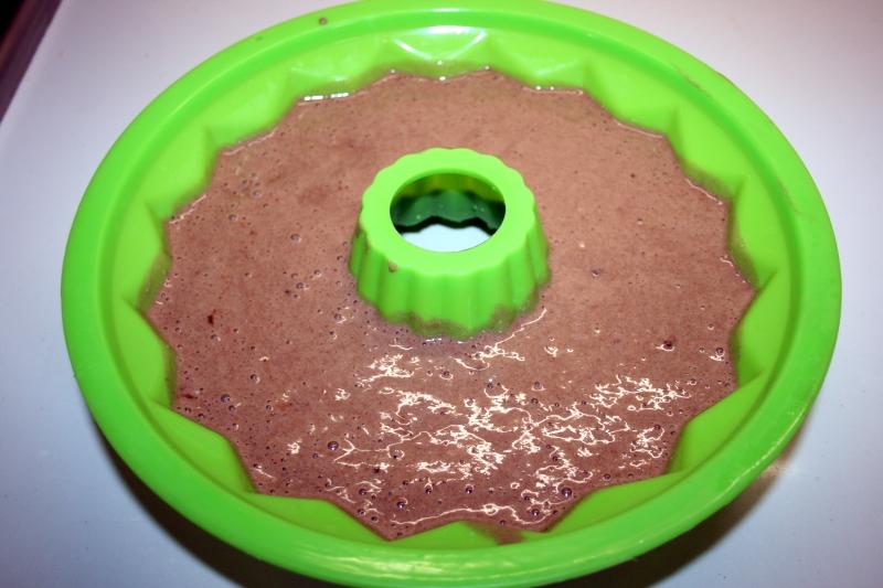 05 Listo para el horno bizcocho de chocolate y plátano en blog de fitness