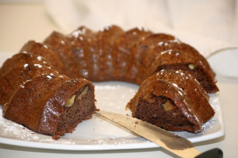07. bizcocho de chocolate y plátano en blog de fitness
