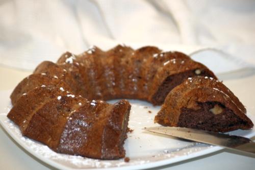 08. Pequeño bizcocho de chocolate y plátano en blog de fitness