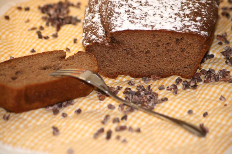 09. Bodegon del plumcake integral de chocolate y pera en blog de recetas fitness