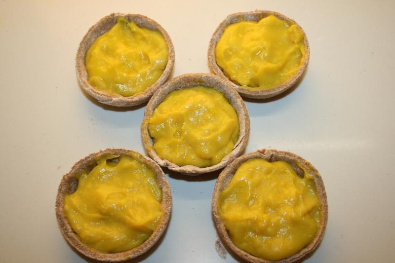 11. Crema colocada en Tartaletas de frutos del bosque en blog de recetas fitness