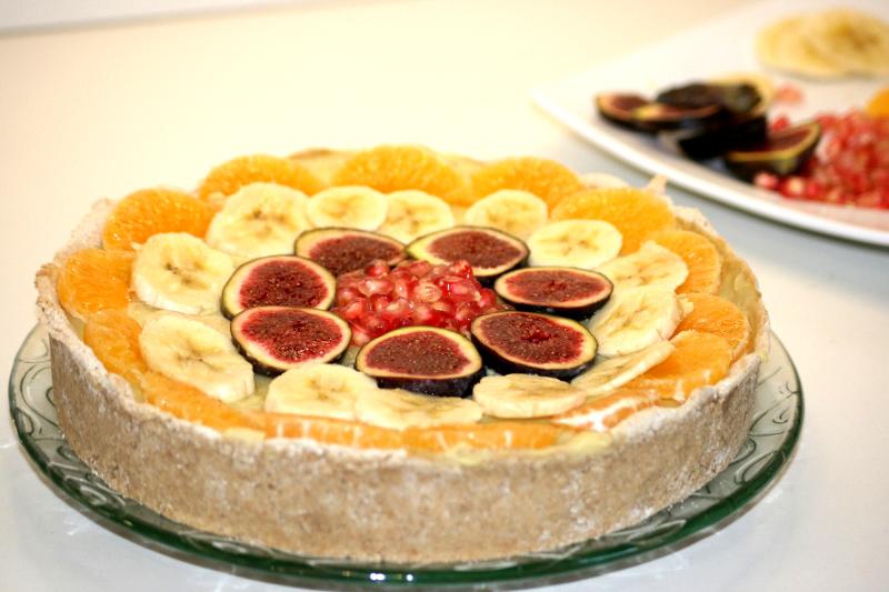 14. Bodegón tarta fitness de frutas en blog de recetas fitness