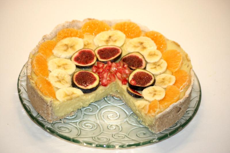 1717. Bodegón tarta fitness de frutas en blog de recetas fitness