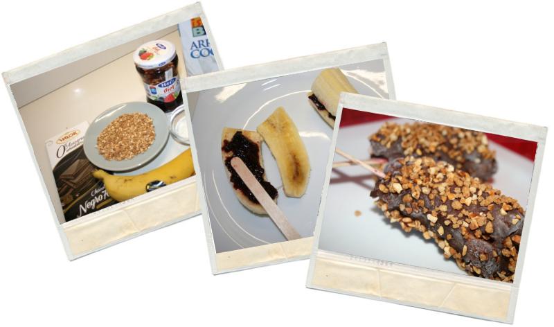 Piruletas de plátano en blog de fitness y nutrición con recetas fitness