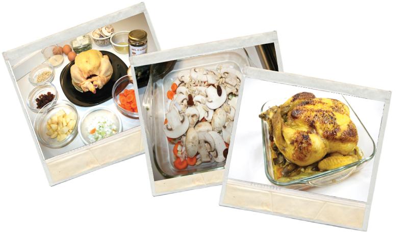 Pollo al horno relleno a la miel y limón en blog de recetas fitness