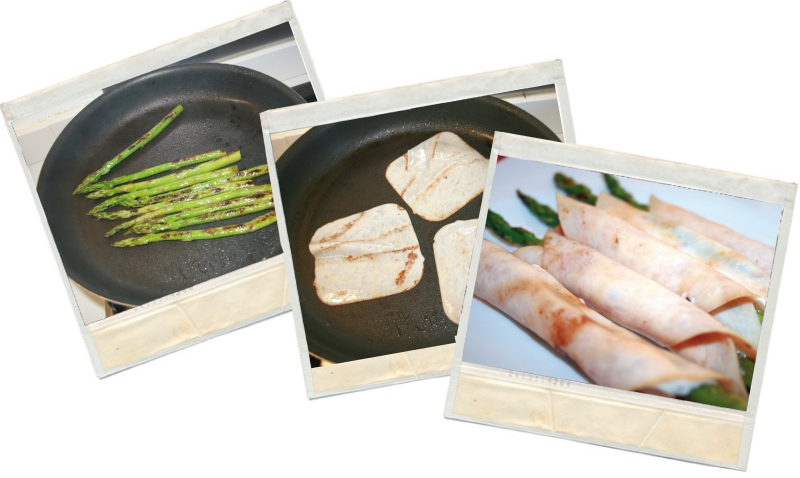 Preparación de los rollitos de pavo para blog de nutrición home