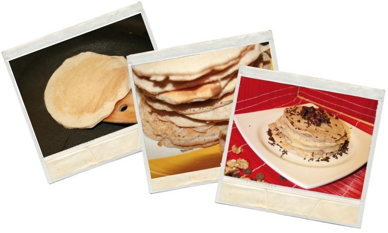 Proceso de los pancakes fit en blog de nutrición