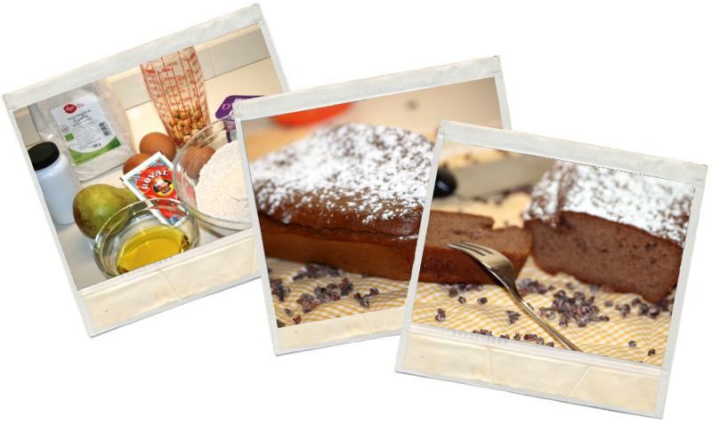Receta fitness de plumcake integral de chocolate y pera en blog de fitness