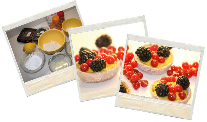 Tartaletas de frutos del bosque en blog de fitness con recetas fitness