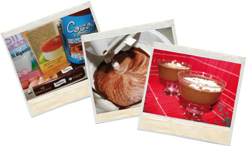 presentación de la mousse de chocolate fit en blog de fitness y nutrición