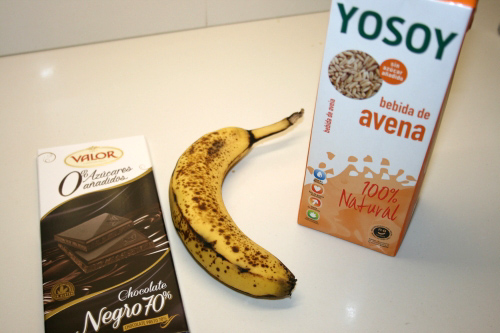 00. Ingredientes fitness para receta fitness de choco y banana